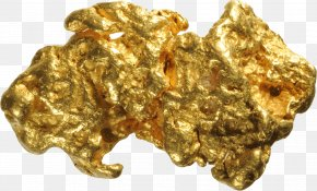 Gold - Gold Nugget Gold Mining Gold Panning Sand PNG
