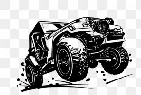 Black And White Jeep - Jeep Car Off-roading Off-road Vehicle PNG