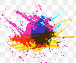 Multi-color Sprayed Graffiti Vector - Graffiti PNG
