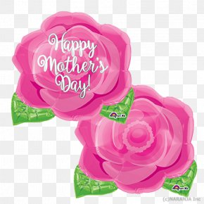 Pink Balloon - Garden Roses Mother's Day Balloon Pink PNG