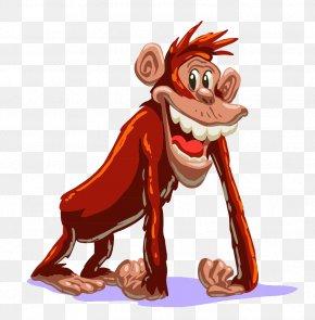 Creative Cartoon Monkey - Primate Ape Monkey Cartoon PNG