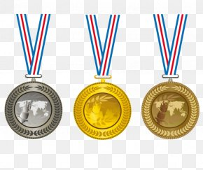 Silver, Bronze Medals - Gold Medal Olympic Medal Clip Art PNG