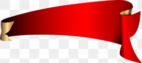 Red Roll Angle Vector Banner - Red Banner PNG