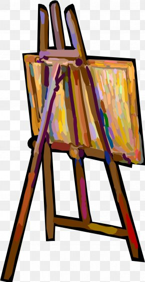 Canvas - Easel Art Museum Painting Clip Art PNG