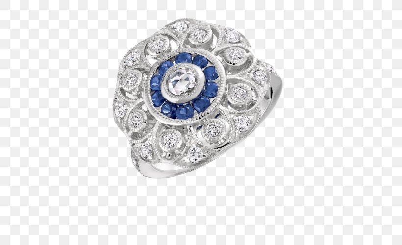 Sapphire Engagement Ring Diamond Jewellery, PNG, 500x500px, Sapphire, Bling Bling, Body Jewellery, Body Jewelry, Brilliant Download Free