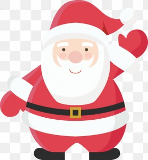 Vector Hand-painted Santa Claus - Christmas Label Santa Claus Paper Sticker PNG