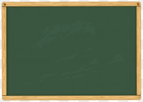 Green School Board Clipart Image - Blackboard Illustration PNG