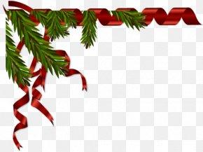 Feuilles Gris - Ribbon Clip Art Christmas Image PNG