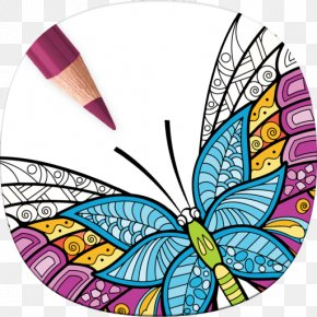 Butterfly Coloring Book - Adult Coloring Book: Stress Relieving Patterns Mobile App Coloring Pages Apps Animal Coloring Pages PNG