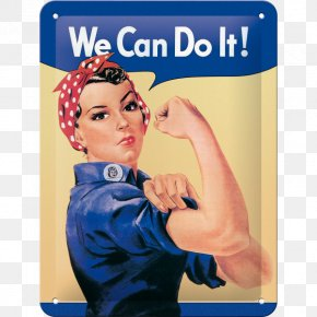 United States - Geraldine Doyle We Can Do It! Second World War Rosie The Riveter United States PNG