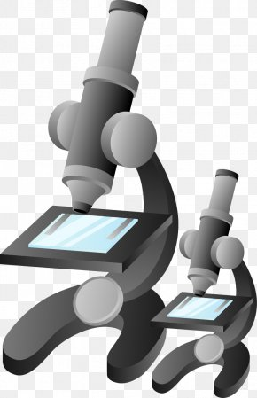 Hand-painted Pattern Microscope - Microscope Cartoon Illustration PNG