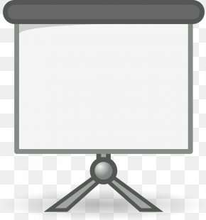 Gray Projector Screen - Presentation Microsoft PowerPoint Clip Art PNG