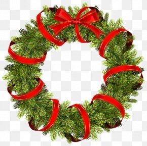 Blue Wreath - Christmas Decoration Wreath Clip Art PNG