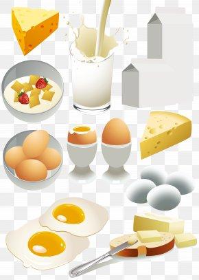 Milk Bread Series - Milk Breakfast Dairy Product Food Clip Art PNG