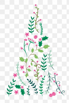 Christmas Tree - Floral Design Christmas Ornament Christmas Tree Spruce Fir PNG