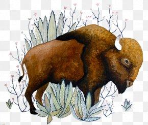 Brown Bull - Watercolor Painting Visual Arts Drawing Illustration PNG
