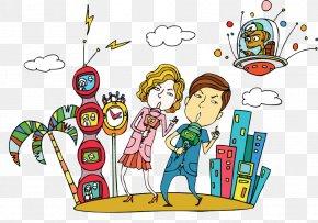 Singing Men And Women - Cartoon Aurkezle News Presenter PNG