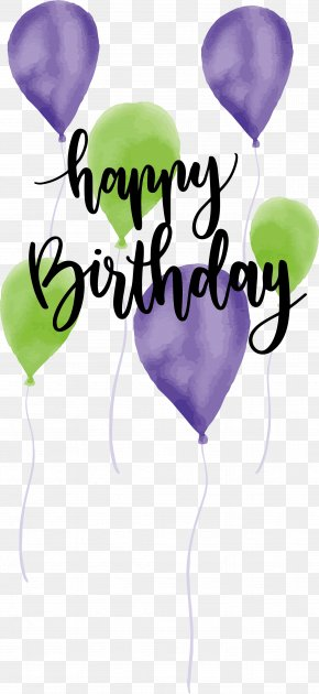 Watercolor Birthday Balloon - Birthday PNG