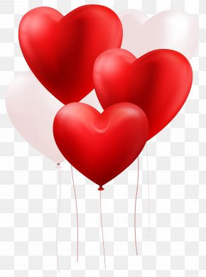 White Balloon - Heart Love Valentine's Day Clip Art PNG