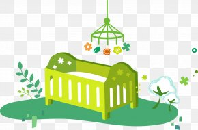 Green Baby - Diaper Infant Bed Illustration PNG