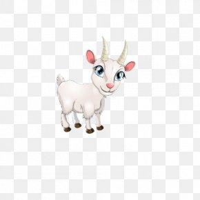 A Hand-painted Goat - Goat Sheep Milk Cartoon PNG