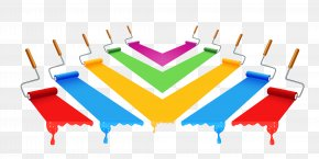 Colorful Paint Brushes - Painting Paintbrush Color PNG