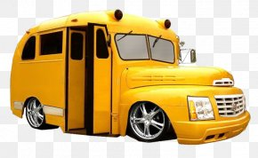 School Bus - School Bus Yellow Car Lowrider PNG