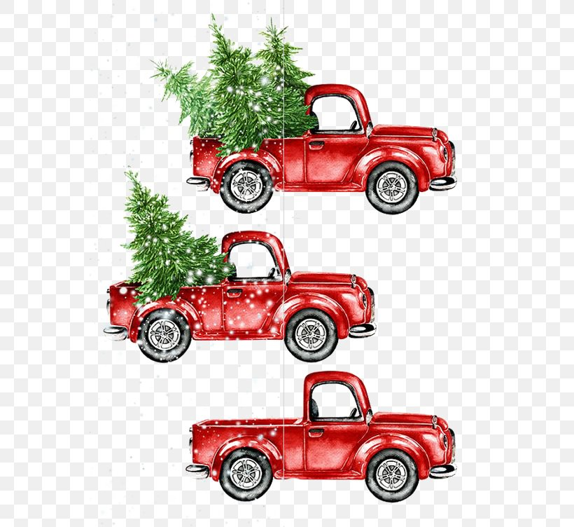 Car Watercolor Painting Christmas, PNG, 564x752px, Pickup Truck, Automotive Design, Brand, Car, Christmas Download Free