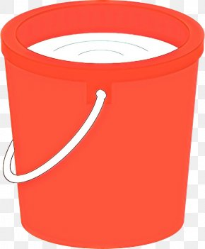 Waste Container Plastic - Orange PNG