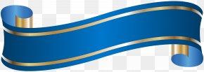 Elegant Banner Blue Clip Art - Banner Blue Clip Art PNG