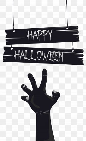 Happy Halloween With Grave Hand Image - Grave Shambler Clip Art PNG