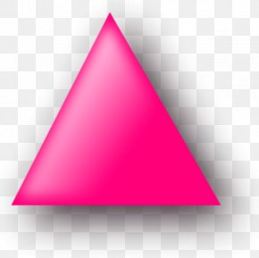 Triangle - Pink Triangle Clip Art PNG