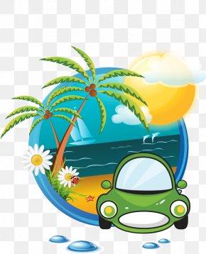 Travel Element - Beach Logo Summer Clip Art PNG