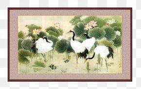 FIG Crane - China Crane Paper Painting Wallpaper PNG