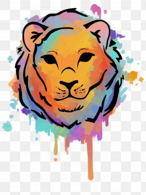 Lion - Lion Watercolor Painting Drawing Art Clip Art PNG