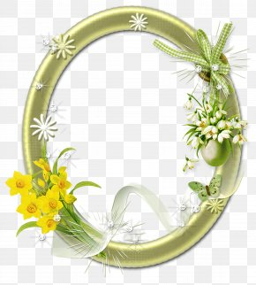 Gold Flower - Picture Frames Borders And Frames Flower PNG