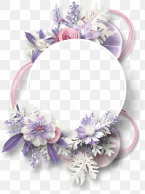 Flowers Decorative Circular Border Lemon - Picture Frame Digital Scrapbooking PNG