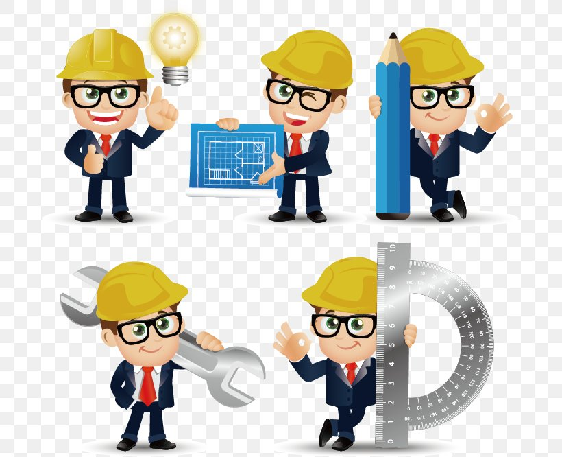 Civil Engineering Euclidean Vector, PNG, 695x666px, Engineer, Architectural Engineering, Cartoon, Character, Civil Engineering Download Free