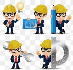 Construction Engineer Cartoons - Civil Engineering Euclidean Vector PNG