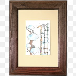 Watercolor Frame - Giraffe Picture Frames Work Of Art Painting PNG