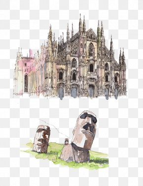 Moai Statues,(Chile) Milan Cathedral - Museum Of The Milan Cathedral Florence Cathedral Duomo PNG