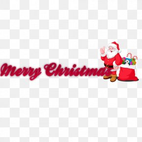Merry Christmas Wordart - Santa Claus Christmas Eve Letter Template PNG
