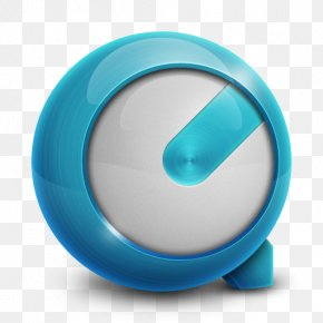 QuickTime - Aqua Turquoise Circle PNG