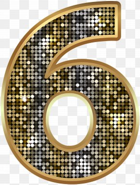 Number Six Deco Gold Clip Art Image - Icon Clip Art PNG