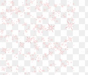 Red Star Shading - Pink Petal Pattern PNG