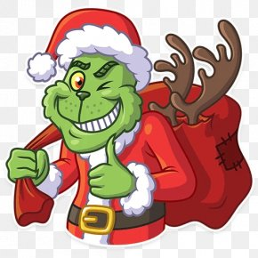 Santa Claus - Grinch Sticker Telegram Santa Claus Clip Art PNG
