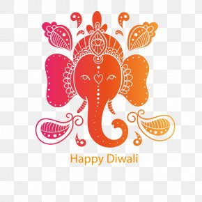 Colorful Diwali Elephant Background Template Download - Diwali Elephant PNG