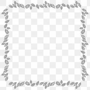 Leaf Border - Picture Frames Digital Photo Frame Digital Scrapbooking Black And White PNG