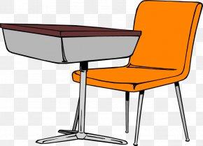 Organized Student Cliparts - Student Table Desk Carteira Escolar Clip Art PNG