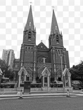 Shanghai Catholic Church - Saint Ignatius Cathedral, Shanghai St. Andrews Roman Catholic Church Building PNG
